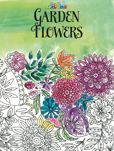 Garden Flowers Adult Coloring Book